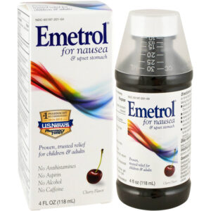 How does emetrol (domperidone) work on the body